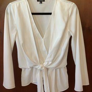 TopShop asymmetrical women's white blouse- size 4